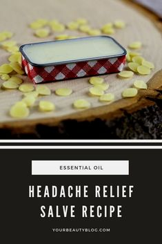 How to make a DIY headache relief salve or balm. This natural home remedy uses essential oils like peppermint, lavender, tea tree, and eucalyptus. Massage this salve on your neck or temples for quick…More How To Relieve Headaches, Sinus Headaches, Tension Headache, Headache Relief, Natural Headache Remedies, Natural Home Remedies, Headache Symptoms, Salve Recipes