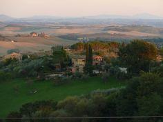 Blick von Sienna in die Toskana.