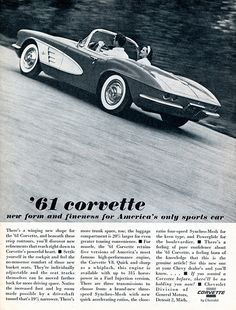 1961 Chevrolet Corvette Advertising Sports Car Illustrated December 1960 | Flickr - Photo Sharing!