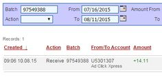 Here is my THIRTY-THIRD Withdrawal Proof from AdClickXpress. I get paid daily and I can withdraw daily. Work from home. Online income is possible with ACX, who is definitely paying - no scam here. Join me and start making money! http://www.adclickxpress.com/?r=nebmil&p=immd