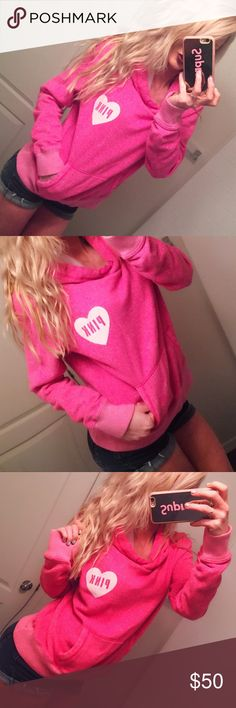 💘 Victoria Secret Pink Hoodie Sweatshirt Victoria Secret Pink Hoodie Sweatshirt  ▪️size small  ▪️Pink , with large white graphics heart on font sequin'  💯 authentic  ▪️ long sleeves, pullover attached hoodie, kangaroo hand pockets. Velvet like material  ▪️ Victoria secret pink ▪️ Condition: NWOT. Great New condition 👌 No rips, stain or tears 🚭 smoke free environment. PINK Victoria's Secret Tops Sweatshirts & Hoodies