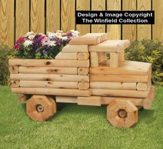 outdoor wood Landscape Timber Dump Truck Planter Plans Selecting The Right Bonsai Pots Landscape Timber Crafts, Landscape Timbers, Wooden Planters, Planter Boxes, Diy Wood Projects, Garden Projects, Wood Patterns, Quilt Patterns, Wooden Crafts