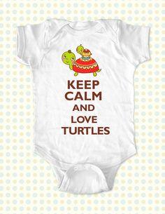 Custom Keep Calm and Love Turtles kids one-piece von keepcalmstore
