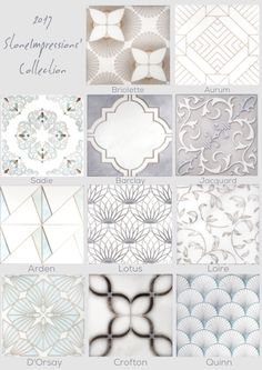 The new 2017, made-to-order StoneImpressions' collection is now live on our website. This collections has both modern and classic designs featured on beautiful natural stones and marbles such as travertine, carrara. limestone, thassos and durango. These tiles are available in multiple colors and can be customized to your style. You choose the stone type, color and size with our StoneImpressions' collection.