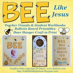 Romans: Bee Who Jesus Wants You to Bee Ready: New post today with free teacher visuals, student workbook, and a bee door hanger craft!