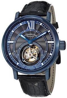 Stuhrling Original Imperium Tourbillon 396.33XX6 Stainless Steel   Leather  45mm Watch 7a94467dc9
