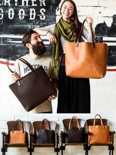 Welcome to our shop! All of our leather tote bags are handmade in our Portland, Oregon workshop, using full grain U.S. tanned cowhide with English bridle leather handles. • • • • • • HUGE 50% OFF SALE • FULL-GRAIN LEATHER TOTE BAGS • • • • • • We offer four tote bag sizes: * Small Tote • • • • • • Only $98 • • • • retail $199.00 * Small (pocket) • • • Only $120 • • • • retail $240.00 * Medium Tote • • • • • • Only $120 • • • • retail $240.00 * Medium (pocket) • • • Only $140 • • • • retail…