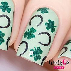 Amazon.com : Whats Up Nails - Saint Patrick's Vinyl Stencils for Saint Patrick's Day Nail Art Design (1 Sheet, 12 Stencils) : Beauty