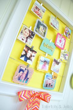 Spring or Summer, capture the memories your way with this fun DIY photo display
