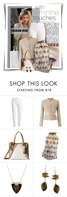 """""""With Feminine Touches"""" by diva1023 ❤ liked on Polyvore featuring Whiteley, Basler, Phase Eight, Steve Madden, Alberta Ferretti and Monique Péan"""
