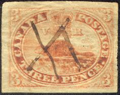 Canada's First Postage Stamp Old Letters, Snail Mail, Stamp Collecting, Postage Stamps, Exploring, Vintage World Maps, The Past, Miniatures, Cards