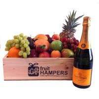 Veuve Champagne Fruit Gift Hamper  Give the gift of fruit this Christmas and show them how much you care! We specialise in fresh fruit gift hampers which are shipped Australia wide. www.igiftfruithampers.com.au #christmasgifthampers #christmashampers #corporatehampers #corporategifts