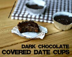 Dark Chocolate Covered Date Cups  Tastes like caramel filling!  {2 Points Plus Each}