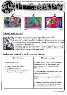 A la manière de Keith Haring - - - - Arts visuels - Cycle 3 - - Keith Haring Kids, Keith Haring Heart, Keith Haring Poster, Keith Haring Prints, Lessons For Kids, Art Lessons, Pop Art Artists, Famous Artists, Haring Art