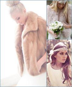 Abrigos para novias. Bodas de invierno - winter brides: shrugs, stoles and coats