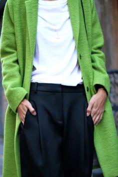 L O V E this green coat!