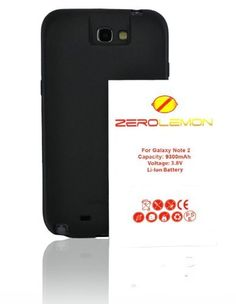 [180 days warranty] ZeroLemon Samsung Galaxy Note II 9300mAh Extended Battery + Free Black Extended TPU Full Edge Protection Case with 180 days Zero Lemon Guarantee Warranty (Compatible with Samsung Galaxy Note II GT-N7100, T-Mobile Galaxy Note II SGH-T889, Sprint Galaxy Note 2 SPH-L900, At&t Samsung Galaxy Note II SGH-i317, and Verizon SCH-i605) With 180 Days ZeroLemon Guarantee Warranty - WORLD'S HIGHEST NOTE 2 BATTERY CAPACITY **USA PATENT PENDING DESIGN**- Black…