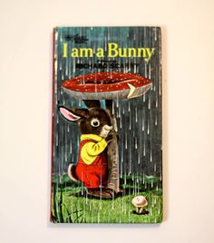 I Am A Bunny by Ole Risom, Illustrated by Richard Scarry - Vintage Children's Book - Golden Sturdy Book by StrikingThirteen on Etsy
