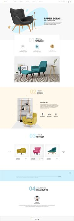 Shopina is beautiful and clean e-commerce PSD template specially designed for single product store. Template suitable for all types of single product shopping businesses like handmade, fashion, sun... #webdesign #ui #uidesign Website Layout, Web Layout, Layout Design, Layout Template, Psd Templates, Best Interior Design Websites, India Website, Furniture Websites, Catalog Design