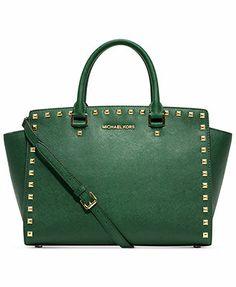 MICHAEL Michael Kors Handbag, Selma Stud Large Satchel