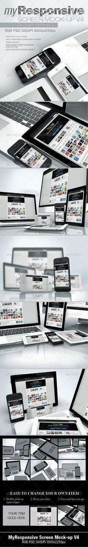 myResponsive screen mock-up V4