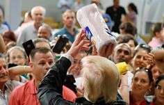 PsBattle: Trump Throwing Paper Towel to Hurricane Victims in Puerto Rico