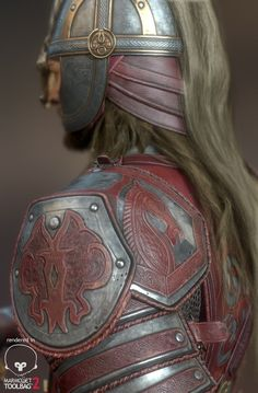 ArtStation - Eomer - realtime character, aaaaaaah I luv it *-* Cosplay House, J. R. R. Tolkien, Battle Axe, Shoulder Armor, Into The West, Leather Armor, Karl Urban, Cs Lewis, Medieval Fashion