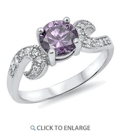 I like a lot of Dreamland Jewelry and SuperJeweler's jewelry, and it is more affordable than many companies'.  Sterling Silver Round Amethyst CZ Ring
