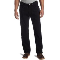 Lee Men's Relaxed Fit Tapered Leg Jean, Double Black, 36W x 30L (Apparel)
