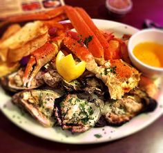 Crab legs and Oyster