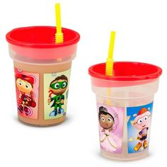 Super why straw cups.