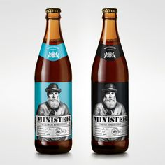MINISTER BEER by Ostecx Créative , via Behance