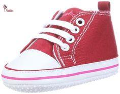 Playshoes-121535-Chaussures pour Bébé - Taille Fabricant: 18 ; rouge -  Chaussures