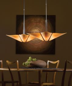 Kirigami Pendant With Cherry Wood Paper Shade Made In USA Jeanette Schart Dining Room Light Ideas