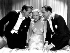 """Gary Cooper, Miriam Hopkins, and Fredric March for """"Design for Living (1933)"""""""