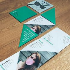 Mailing out some resumes? Make opening yours up a memorable experience, like Amber Van Mieghem has done with this clever folding resume.