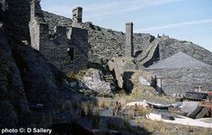 A reminder of times gone by is this collection of old quarrying buildings at Oakley quarry, Blaenau Ffestiniog.