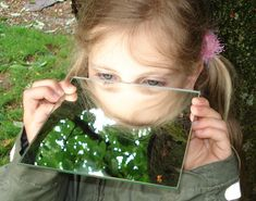 Discover the forest with the mirror! new fascinating views are created! Discover The Forest, Forest Ecosystem, Garden Party Decorations, Outdoor Education, Most Beautiful Gardens, Forest School, Kids Corner, Nature Crafts, Science For Kids