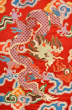 This premium quality thick brocade with dragon designs is commonly used in Tibet. It is sold by the yard. The width of the material is 29 inches.