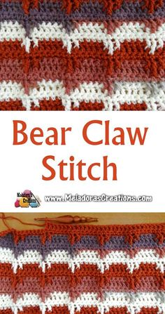 Bear Claw Crochet Stitch – Free Crochet Pattern