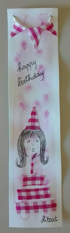 Segnalibro happy birthday bimba
