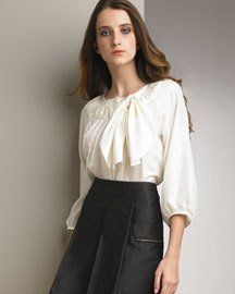 See by Chloe Bow Blouse -  See by Chloe -  Neiman Marcus