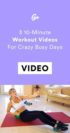 Fact: Ten minutes are better than zero minutes.   #greatist https://greatist.com/fitness/at-home-workouts-10-minute-exercise-videos