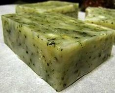 I have some leftover basil (and grow my own rosemary) so I might try to do a combo tonight. Soap Making Recipes, Homemade Soap Recipes, Soap Making Supplies, Homemade Cosmetics, Body Soap, Lotion Bars, Homemade Beauty Products, Cold Process Soap, Handmade Soaps