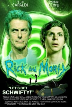 fake poster of Rick and Morty the movie (They are too perfect for the role in the movie?)