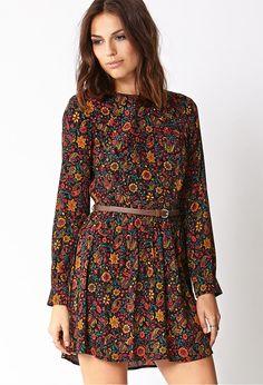 Surreal Paisley Dress w/ Belt | FOREVER21 - 2031557903