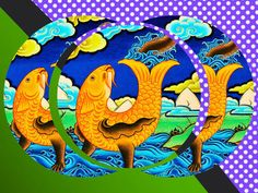 'Golden Fish' by lanjee chee on artflakes.com as poster or art print $20.79