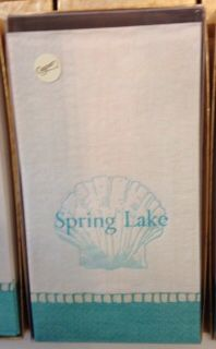 Looking for a house warming gift? Try these awesome Spring Lake hand towels! We have them for other local towns as well!