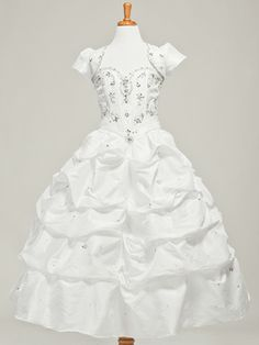 Divine Taffeta Communion Dress