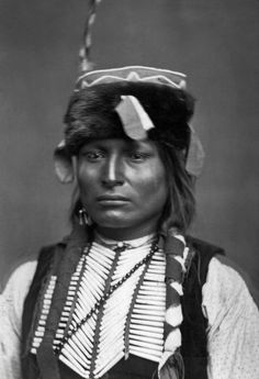 Kiowa man Sitting-in-the-Saddle, who is Lone Wolf's son. Photographed between 1869 and 1874.
